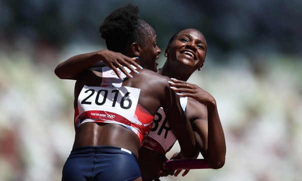 Dina Asher-Smith targets relay redemption as Britain run fastest time in an Olympic heat